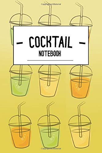 Summer Cocktail Notebook: Drinks themed journal for students and office work (lined): Beach cocktail bar tips notebook