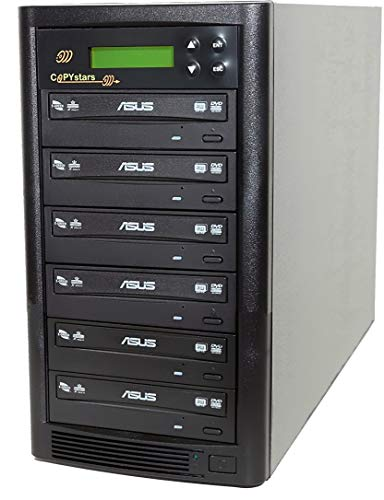 Copystars DVD Duplicator 24X CD DVD Burner 1 to 5 Copier Sata Dual Layer Burner DVD Duplicator Tower SYS-1-5-ASUS-CST
