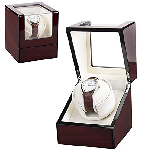 Enrollador Caja De Reloj Automático Caja De Reloj Rotativo Caja De Reloj De Madera De Cuerda Automática Mecánica 1 Display De Almacenamiento De Relojes con Motor Silencioso