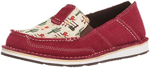 Ariat Women's Cruiser Slip-on Shoe, Vintage Cowgirl/Cranberry, 5.5 B US