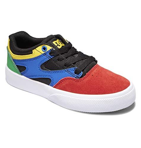 DC Shoes Kalis Vulc-für Jungen, Zapatillas, Negro Y Multicolor, 27.5 EU