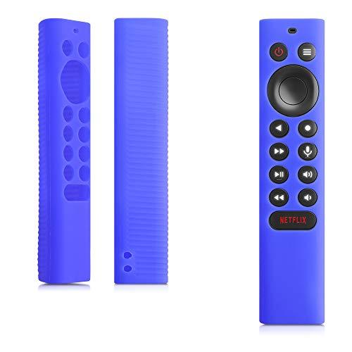 kwmobile Hülle kompatibel mit Nvidia Shield TV pro/4K HDR - Fernbedienung Silikon Hülle in Blau