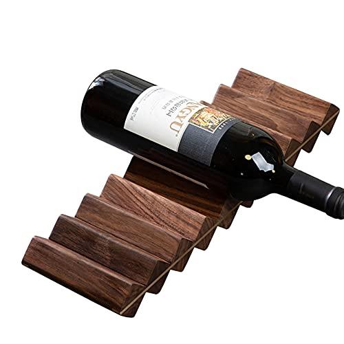 ZXMDP Mesa de botellero, Organizador de Botellas de Vino de pie, Estantes de exhibición del Tenedor del Almacenamiento del Vino para Bar, Bodega, sótano, Armario, despensa, Cocina
