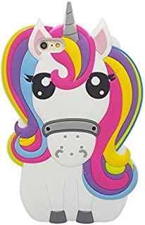 Joyleop Rainbow Unicorn Case for iPhone 5 5C 5S SE 5G,Cute 3D Cartoon Animal Cover,Kids Girls Lady Cool Fun Soft Silicone Gel Rubber Kawaii Character Unique Gift,Fashion Shell Skin Protector iPhone5