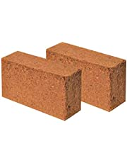 MASHKI Cocopeat Orgainc Coir Brick 2x600g Expands to 11kgs (1200gms) Soil Manure
