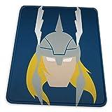 VOROY Superhero-Thor - Alfombrilla de ratón vertical con soporte para muñeca y base de goma antidesl...
