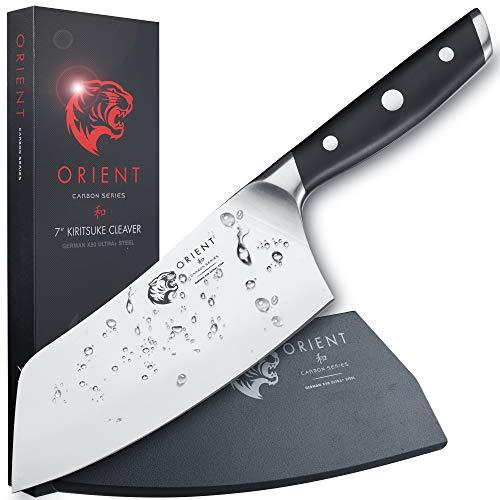 ORIENT 18cm Kiritsuke Hackmesser - Hackbeil Chinesisches Kochmesser - Hack Messer Küchenmesser - Edelstahl
