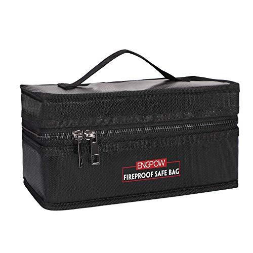 ENGPOW Lipo Battery Bag Feuerfeste Akku Tasche Safe Explosionsgeschützte Organizer für Lipo Battery Storage und Lade Box Guard Tasche