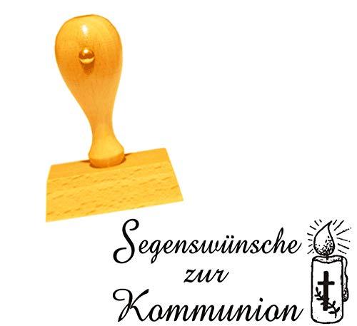 Stempel Segenswensen voor de communie - motief kaars - ca. 50 x 25 mm.