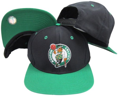 Boston Celtics Black/Green Two Tone Plastic Snapback Adjustable Plastic Snap Back Hat/Cap