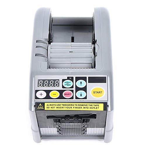 TOPQSC Dispensador automático de cinta, máquina de embalaje de cortador adhesivo eléctrico 2 rollos para ajuste de cinta de doble cara para oficina hogar