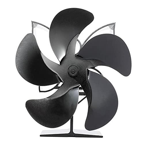 XIANGE100-SHOP Ventiladores para chimeneas Power Thermal Chimenea Calentador Cinco Cuchillas Chimenea Calefacción Ventilador Eficiente Calentador de Aire Bajo Ruido Ventilador Chimenea