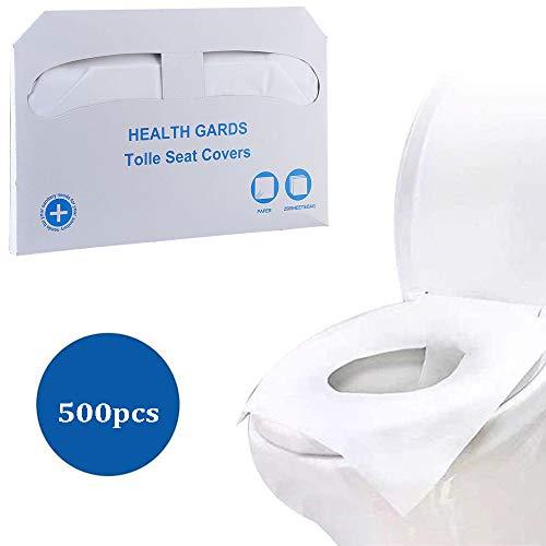 Einweg-Toilettensitzbezug aus Papier,500 Stück wasserlöslicher Toilettensitz Tragbarer Reise-Toilettensitz für Erwachsene / Schwangere ,Wird in öffentlichen Toiletten, Flugzeugen und Hotels verwende