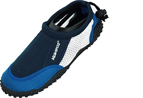 Aqua-Speed Aquaschuhe Wasserschuhe/Surfschuhe/Badeschuhe (Blue 25)