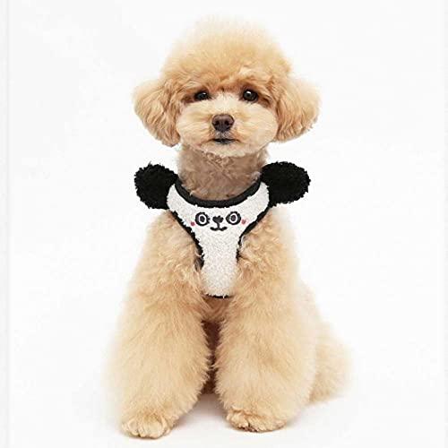 Pettorina per cani Pettorina regolabile traspirante Pettorina confortevole senza soffocamento Ideale per l'allenamento a piedi -nero_M (7-12 kg)