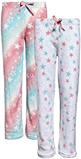 Image of Coral Fleece 2 Pack Stars and Tie-Dye Girls Pajama Pants - See More Colors