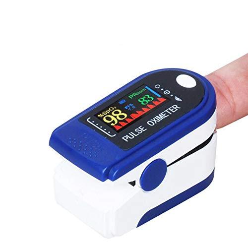 HXZH PulsṎẍḭṃḕṬḖṛ, Sauerstoffsättigungsmesser-FingerṎẍḭṃḕṬḖṛ, Pulsfrequenz- und SpO2-Wert-LED-Anzeige für Haushalt, Fitness und Extremsport, automatische Abschaltung in 8 Sekunden (Blau)