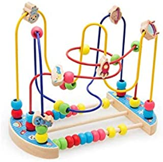 Amusing Wooden Bead Maze Pull Toy & Activity cube Early Childhood Education Toys to Develop Cognitive Thinking & Fine Moto...