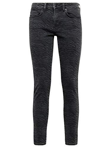 Mavi Adriana Vaqueros Skinny, Negro (Smoke Zebra Punk 29952), W26/L32 (Talla del Fabricante: 26/32) para Mujer