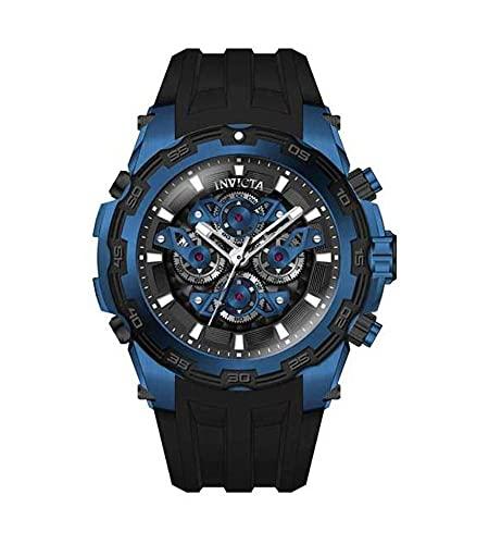 Invicta 34215 Specialty Quartz Multifunción Negro, Reloj de esfera azul para hombre