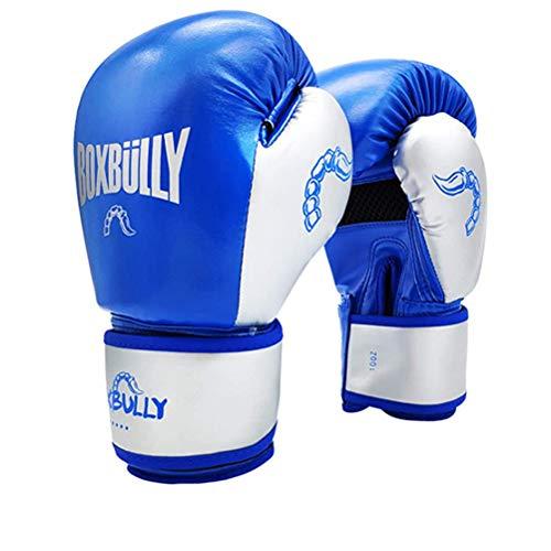 HYA Boxhandschuhe Amateur Kampfhandschuhe für Kickbox MMA Fitness Workout Sparring Boxing Mitts Kampfsport-Trainings-Handschuhe,Blau,8oz