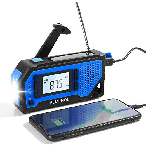 PEMENOL Outdoor Solar Radio,...