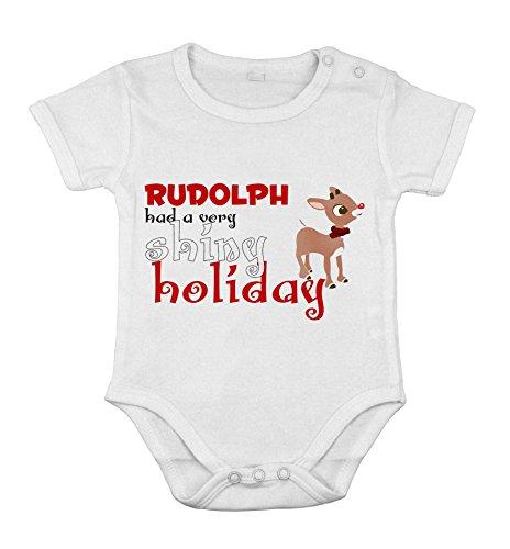 Body-soul-n-spirit Baby Newborn Clothing Short sleeve toddler Jumpsuit Rudolph the red print 6M