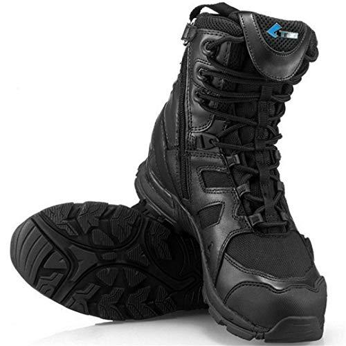 TH&Meoostny Outdoor Herren Wandern wasserdichte Taktische Stiefel Mountain Sneakers Jagd Klettern Trekkingschuhe Black 44