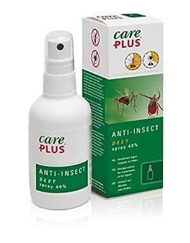 Care Plus Spray Anti-Insectes, À base de 40% de DEET, Pour Toutes les Destinations, 8h de Protection, Pour 3 Adultes, 200 ml