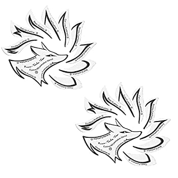 Eyeliner Stencil Eyeshadow Stencil Set,Nine Tail Fox Quick Make-Up Stencils For The Perfect Winged Tip Eyeliner Look,Reusable Easy to Clean & Flexible,Make-up Gadget for Novice Users  2PC