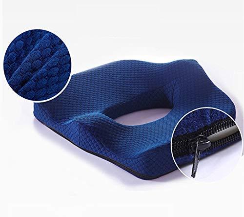 ZHANGYY Memory Foam Kissen Bürostuhl Autositz Sitzkissen Big Fat Rollstuhlmatten Kissen Hämorrhoiden behandeln