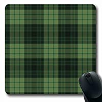 マウスパッド長方形7.9x9.8インチグリーンチェック柄チェック衣服パターンヴィンテージ抽象ハンター男性的なテクスチャキャビンみすぼらしいタータン滑り止めラバーマウスパッドオフィスコンピュータラップトップゲームマット