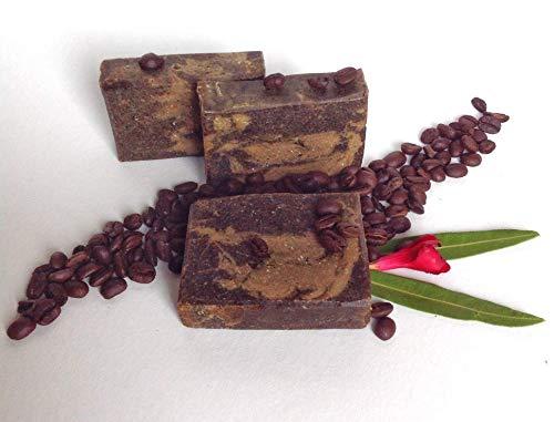 Kaffeeseife, Küchenseife, Peelingseife, vegan, ohne Palmöl, handgemachte Naturseife von kleine Auszeit Manufaktur