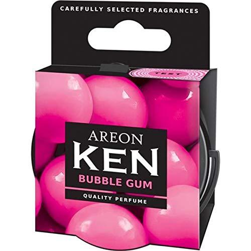 AREON Ken Désodorisant Voiture Bubble Gum en Pot Maison Couvercle Ventilé Réglable 3D (Lot de 3)
