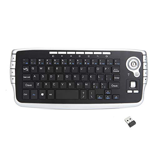 heacker 2-in-1 Tastiera trackball 2.4GWireless Tastiera Multi-Media Functional Air Mouse Tastiera