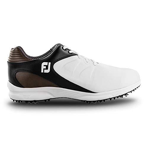 FootJoy Arc Xt-Previous - Zapatillas de golf para hombre, blanco (blanco, marrón, negro (White/Black/Brown)), 39.5 EU