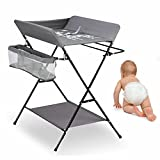 Cambiador de bebé, color gris, con bañera, cambiador para habitación de bebé, combinado
