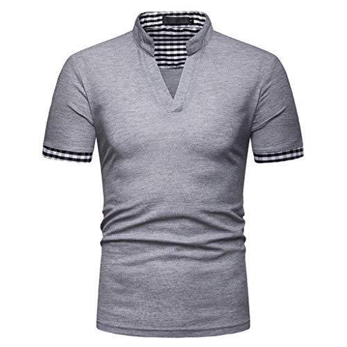 CICIYONER Poloshirts Herren Einfacher Stil, Nähstil 100% Baumwolle Polo Pique Polo Shirt Kurzarm mit Polokragen S M L XL XXL