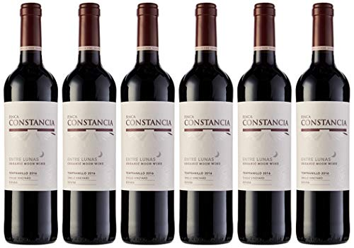 Entre Lunas Entre Lunas - Vino Tinto Biodinámico - V.T. Castilla - 750 ml - 6 botellas x 750 ml - Total: 4500 ml