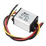 DROK - 90010 Waterproof DC Buck Converter Voltage Regulator 8-22V to 1-15V 5V 12V 3A Adjustable Output Power Supply Transformer