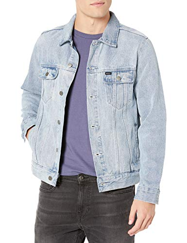 RVCA Men Daggers Denim Jacket White Large