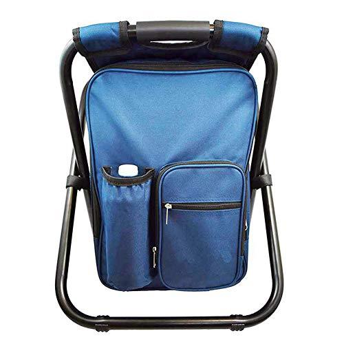 HONGLONG Außen Klappstuhl, Stuhl Tragbare Camping-Rucksack, kann EIN maximales Gewicht von 330 Pfund standhalten, Mit thermischer und Wärmedämmung, Nutzung für Angeln, Camping, Strand, Wandern