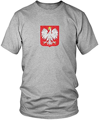 Made In Poland White Eagle Polish Cracked Symbol From POL Men/'s V-Neck T-Shirt