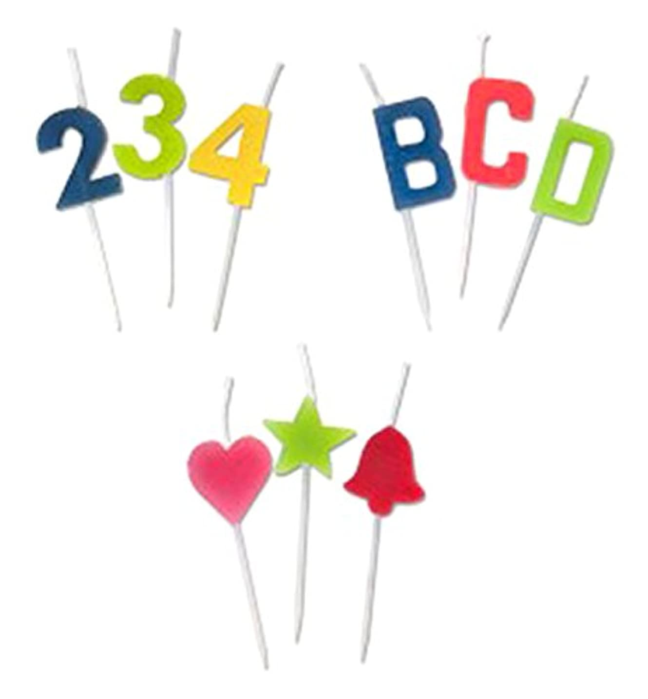 JT Party Supplies Assorted Alphabet Letter Candle-24 Pack