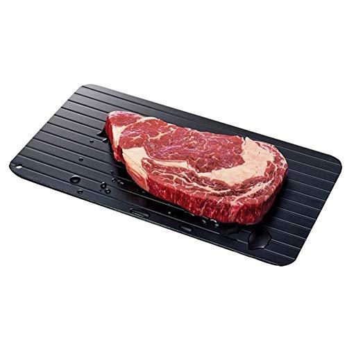 Fikujap Schnell Defrost Tray, Kochgeschirr Gadgets, Tresor Schnelle, kein Strom, für Tiefkühlkost Fleisch 2ST,23 * 16.5 * 0.3cm