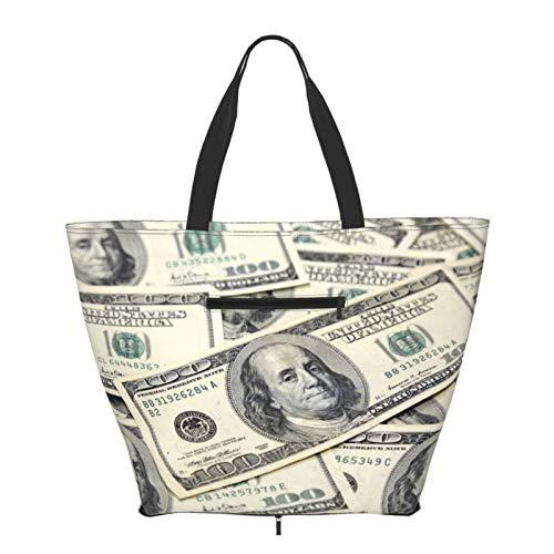 Bolsos de las mujeres Bolso grande nosotros dólares dinero gran capacidad bolsos moda gimnasio deportes playa hombro bolsa
