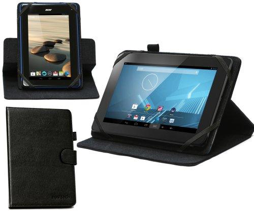 Navitech schwarzes Faux Leder Case Cover mit 360 rotierbare Standfunktion für das LG G PAD 7.0