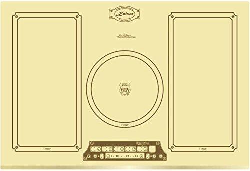 NEUHEIT Kaiser Empire KCT 7795 FI ElfEm Retro Induktionskochfeld 77cm / 2 Flex Zonen und Kreiszone/Einbaukochfeld/Induktions Herd/Full Touch Control/Kochfeld / Glas Elfenbein/