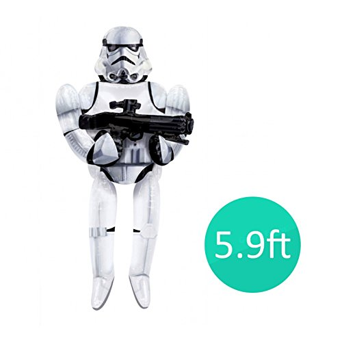 New 3.9ft Star Wars Stormtrooper AirWalker Giant Foil Balloon Birthday Gift Idea Life Size Present Classic Original Characters Films Childrens Party Helium by Amscan