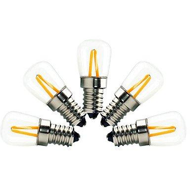 HZZymj-2W E14 Ampoules à Filament LED ST21 2 COB 200 lm Blanc Chaud Gradable Décorative AC 100-240 V 5 pièces